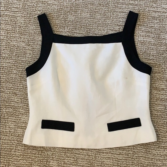 Laundry By Shelli Segal Tops - Vintage LAUNDRY by Shelli Segal linen crop top sz2